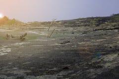 Взгляд неурожайных гор стоковое фото rf