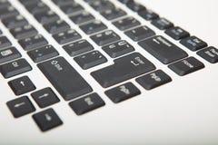 Взгляд низкого угла клавиатуры компьютера Стоковая Фотография