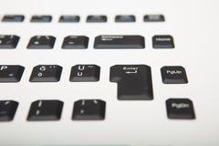 Взгляд низкого угла клавиатуры компьютера Стоковая Фотография RF