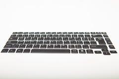 Взгляд низкого угла стандартно расположенной клавиатуры компьютера Стоковые Фото