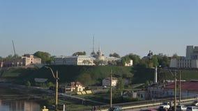 Взгляд нового замка на утре в апреле Grodno, Беларусь
