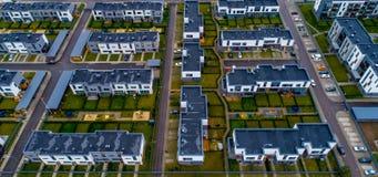 Взгляд новых домов сверху Стоковые Фотографии RF