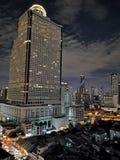 Взгляд ночи Бангкока от верхней части стоковые фото