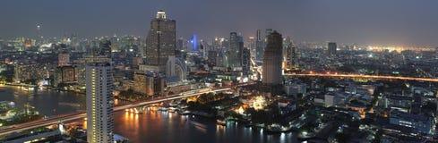 Взгляд ночи Бангкок Стоковые Фото