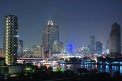 Взгляд ночи Бангкок Стоковое Изображение
