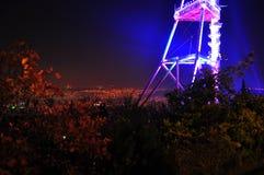Взгляд ночи башни ТВ в Тбилиси Стоковые Изображения