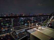 Взгляд ночи в Бангкоке стоковое изображение rf