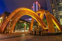 взгляд ночи в Тайбэе стоковое изображение rf