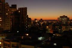 взгляд ночи города Стоковые Фотографии RF