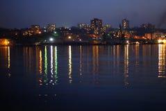 взгляд ночи города Стоковое Фото
