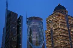 Взгляд ночи Государственного банка Китая в Шанхай Стоковые Изображения