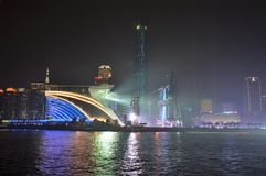 Взгляд ночи Гуанчжоу Китая стоковая фотография