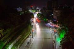 Взгляд ночи древнего города yongzhou, провинции Хунань, Китая стоковая фотография rf