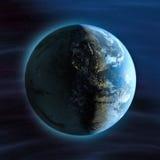 взгляд ночи земли америки Стоковые Фотографии RF