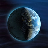 взгляд ночи земли америки иллюстрация вектора
