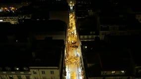 Взгляд ночи Лиссабона видеоматериал