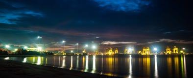 Взгляд ночи на порте Стоковые Фотографии RF