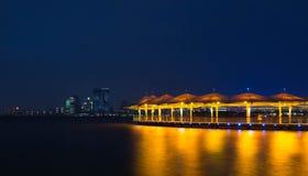 Взгляд ночи озера петуха Сучжоу золотой Стоковое Фото