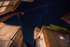 Взгляд ночи от Imlil, marrakesh-Safi Стоковое Изображение RF