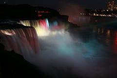 Взгляд ночи падения воды Ниагара Стоковая Фотография