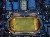 Взгляд ночи трутня стадиона стоковая фотография