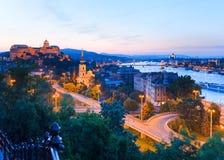 взгляд ночи budapest Стоковая Фотография RF