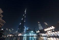 Взгляд ночи Burj Khalifa Стоковое фото RF