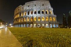Взгляд ночи Colosseo Стоковая Фотография
