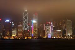 взгляд ночи hk Hong Kong Стоковое Изображение