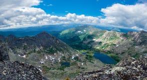 взгляд озера мраморный панорамный s Стоковая Фотография