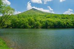 Взгляд озера Abbott и острой верхней горы Стоковое фото RF