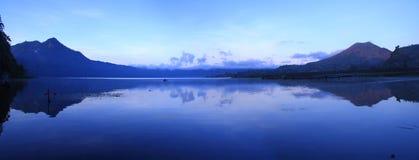 взгляд озера batur bali Стоковое фото RF