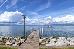 взгляд озера geneva стоковая фотография rf