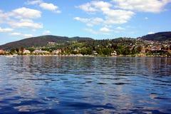 Взгляд озера geradmer в Франции стоковые фотографии rf