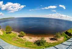 Взгляд озера Ladoga от стены крепости Oreshek стоковые фотографии rf