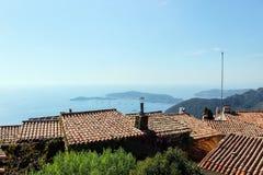 Взгляд океана от деревни eze Стоковое Изображение RF