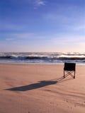 взгляд океана стула стоковое фото rf