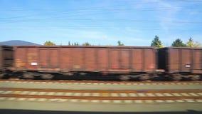 Взгляд окна поездки на поезде акции видеоматериалы