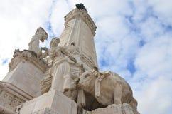 Взгляд ориентир ориентира Лиссабона, Португалия стоковое изображение
