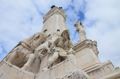 Взгляд ориентир ориентира Лиссабона, Португалия стоковые фотографии rf