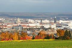 Взгляд осени над центром города Дрездена стоковые фотографии rf