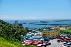 Взгляд основания Пусана военноморского в городе Пусана, Южной Корее стоковое фото rf