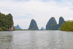 Взгляд островов в Таиланде Стоковое Изображение RF