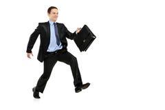взгляд отсутствующего бизнесмена идущий Стоковое Изображение