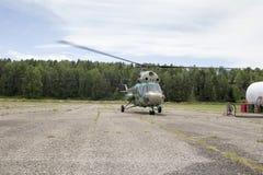 Взгляд от арены вертолета стоковое фото