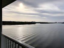 Взгляд от балкона Зима 208 стоковые фото