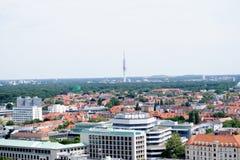 Взгляд от башни гражданской залы на hannover Германии стоковые изображения rf