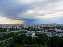 Взгляд от башни телевидения Zizkov в Праге стоковая фотография rf