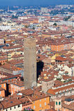 Взгляд от башни Asinelli, болонья Стоковые Изображения RF