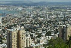 Взгляд от верхней части на портовом городе Стоковое фото RF